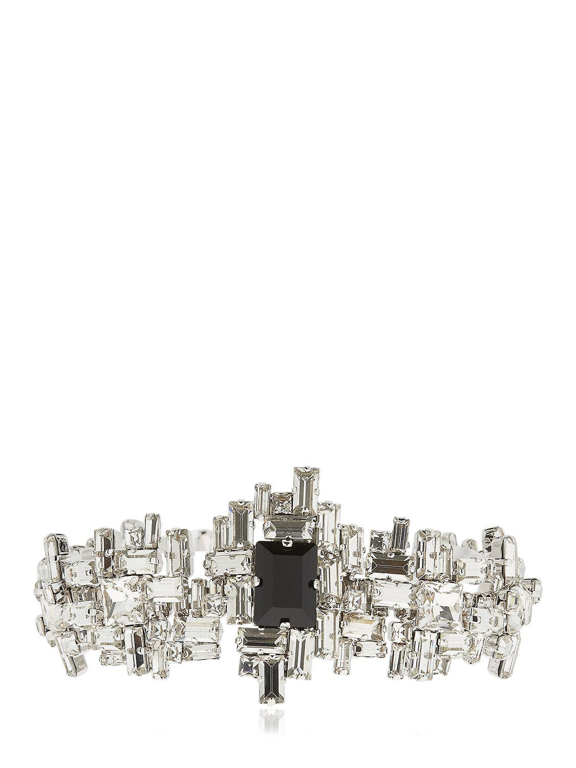Giuseppe Zanotti Silver-tone brass ring with crystals SIAN Bfd7A5r