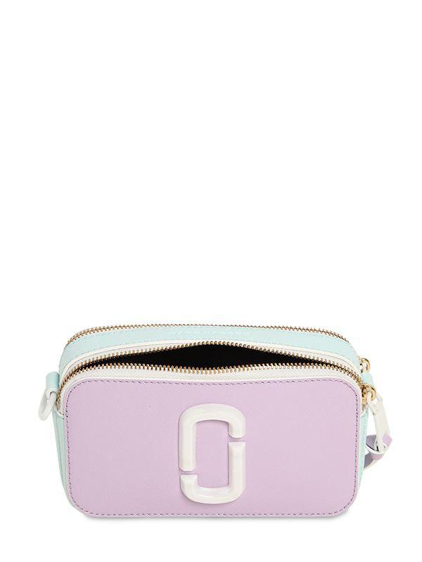 123d344842e Marc Jacobs Snapshot Leather & Ceramic Shoulder Bag in Purple - Lyst