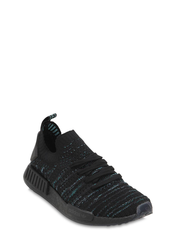 Lyst - adidas Originals Nmd R1 Parley Primeknit Sneakers in Black a6ff6523b59c7