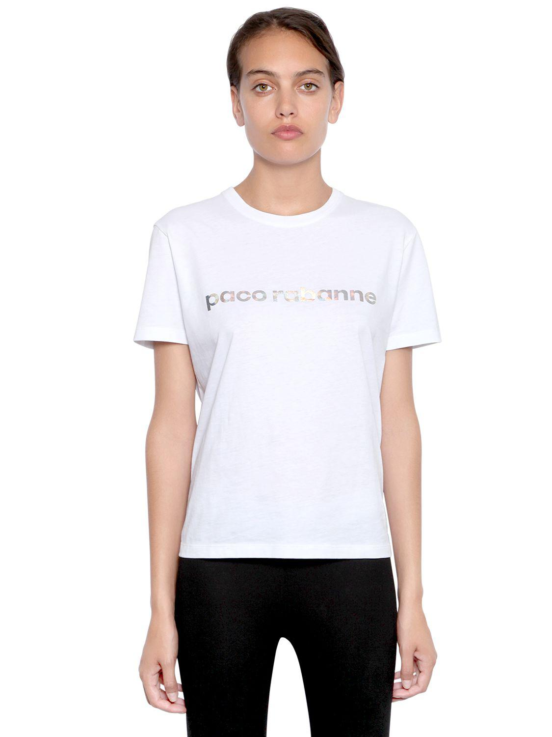 Paco rabanne Silver panel T-shirt Wsbty