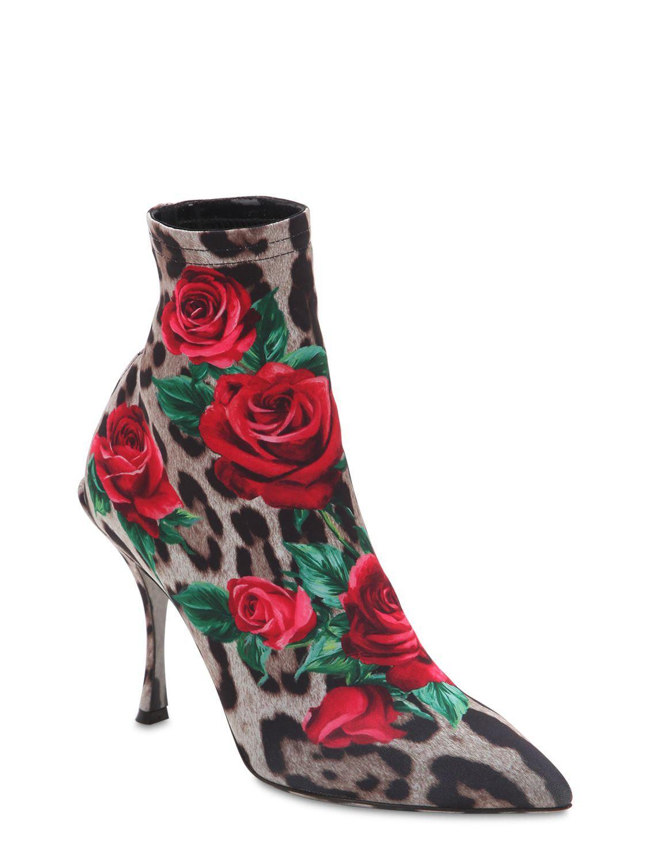 Jersey Lyst 90mm Ankle Dolce Gabbana amp; Boots Printed Lori OwYrqOBa