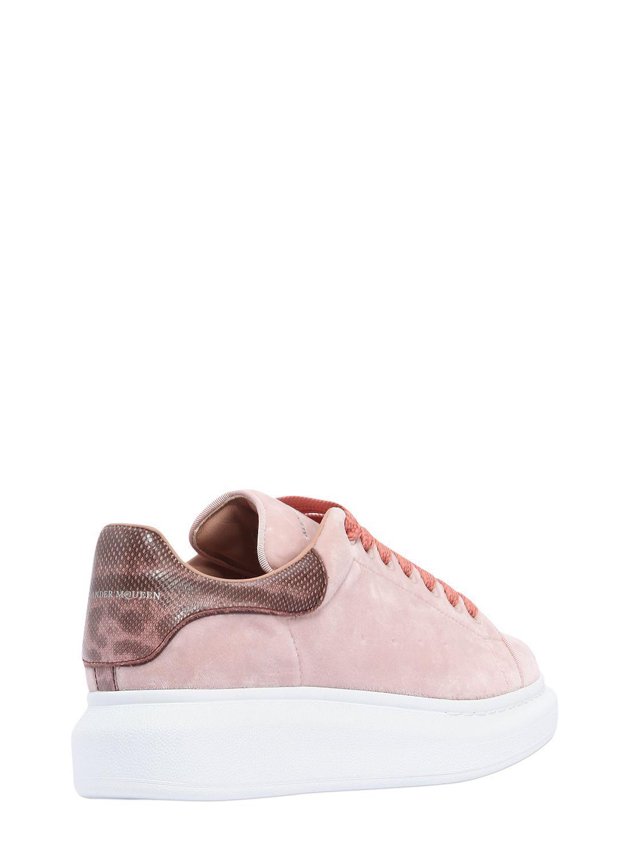2394bb3067f1 Velvet Sneakers amp  Lyst Karung In Mcqueen Pink 40mm Alexander Hqnw7gt