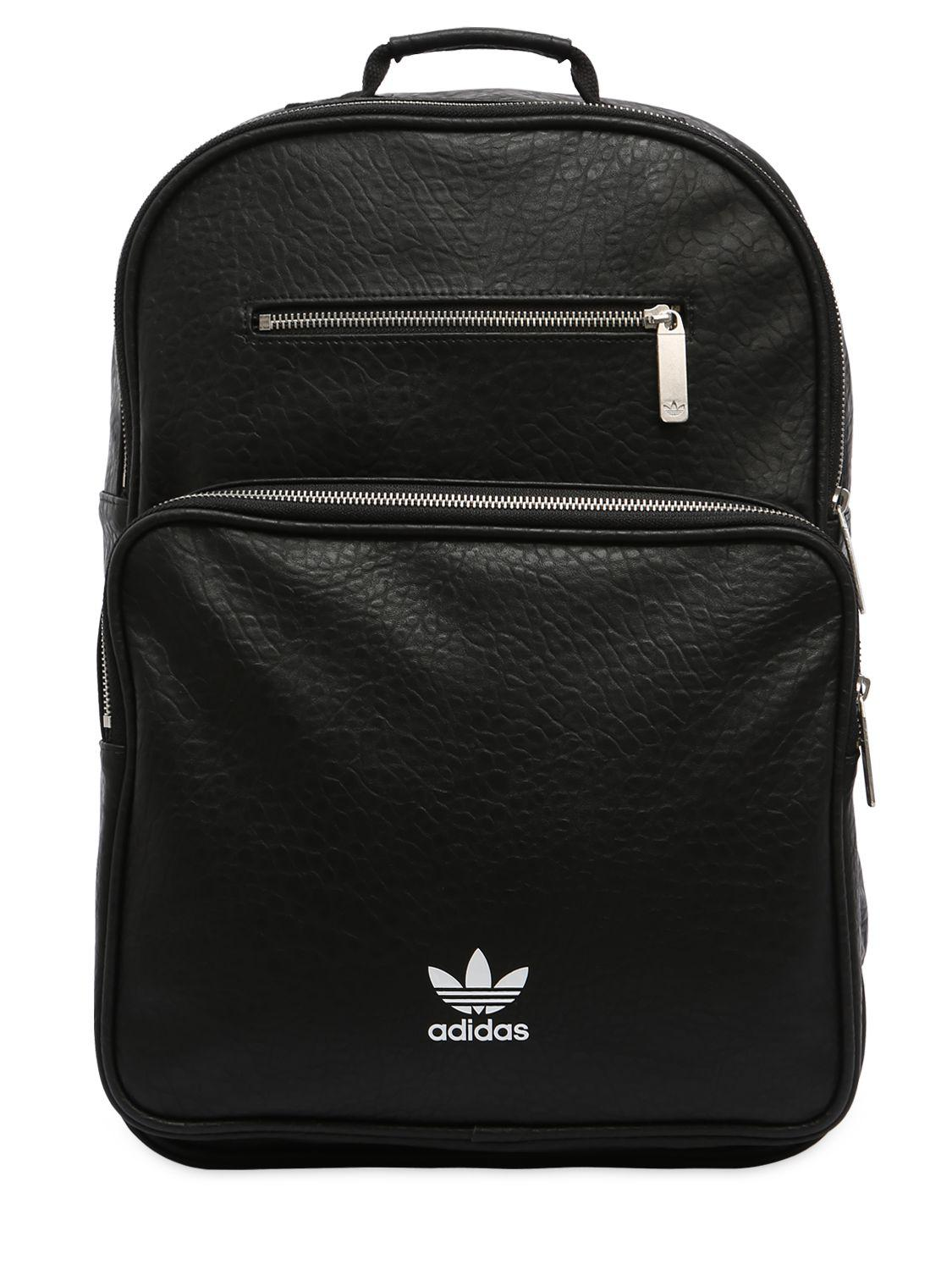 adidas Originals Ac F Bp Classic Faux Leather Backpack in