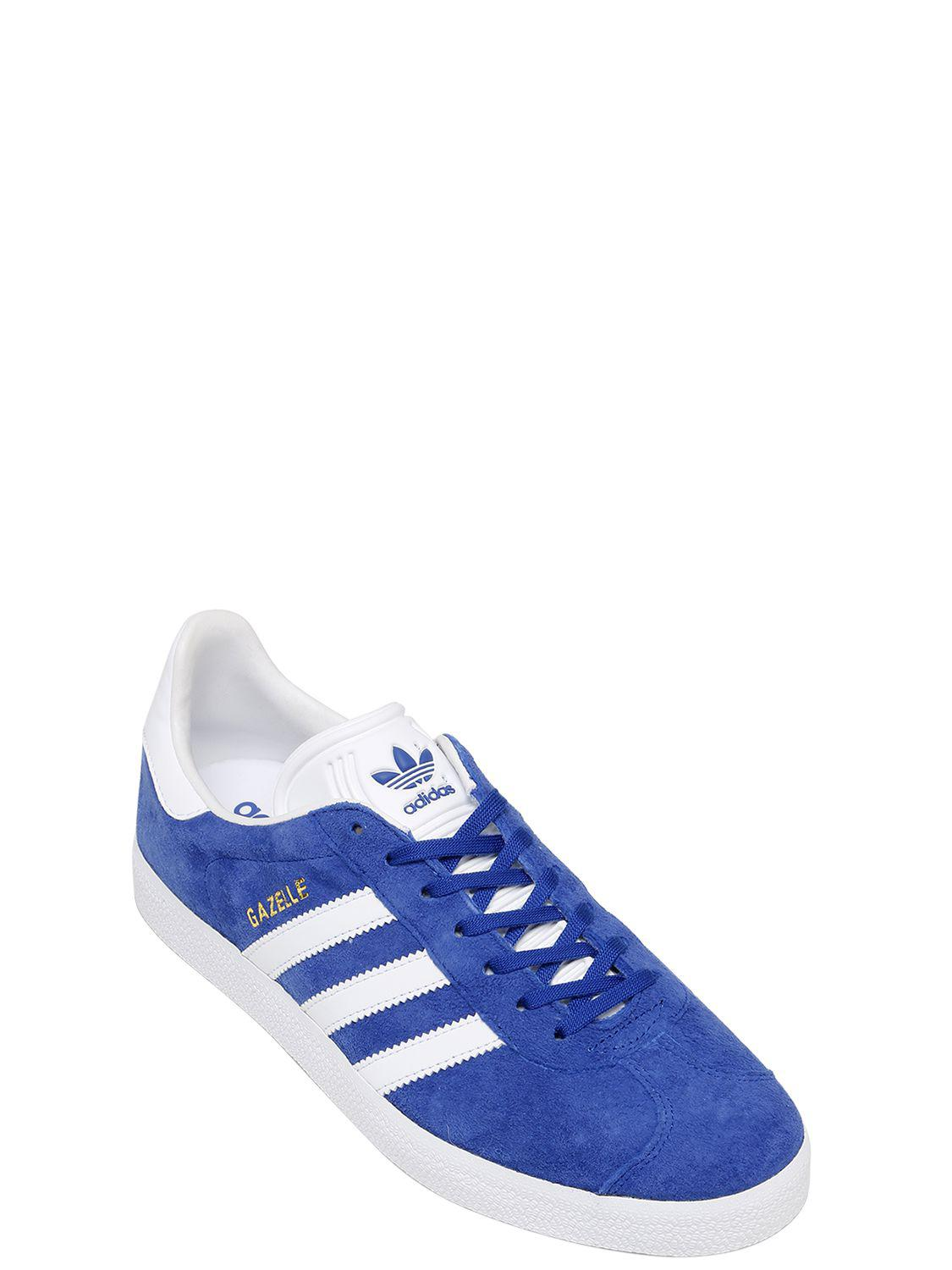premium selection 8e71a e94c1 Lyst - Adidas Originals Gazelle Leather Sneakers in Blue for Men - Save  56.03448275862069%