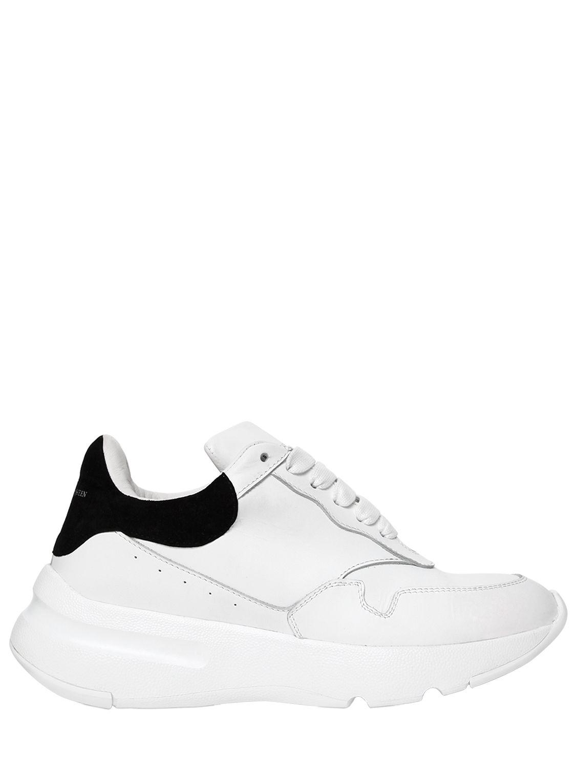 Alexander McQueen 50MM SUEDE & LEATHER SNEAKERS aOD5YPoNQx