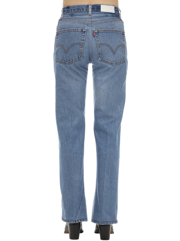 """Jeans """"70S"""" Acampanados Con Cintura Alta RE/DONE de Denim de color Azul"""