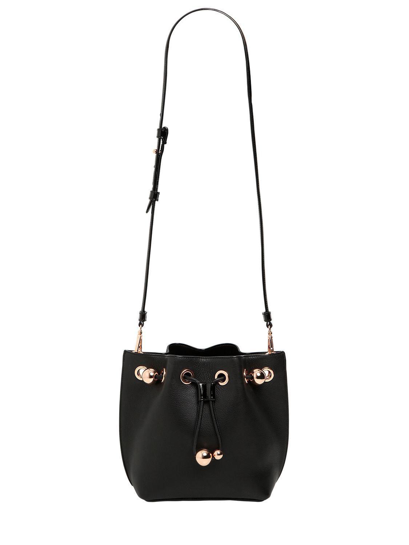 Sophia Webster Romy Mini Leather Bucket Bag in Black - Lyst 435c3253639