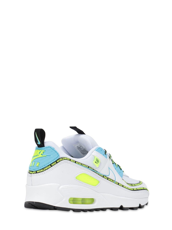 Nike Air Max 90 Se Worldwide Sneaker in White/Blue (Blue) for Men ...
