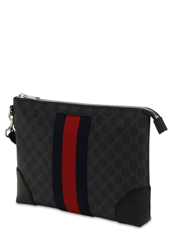 af151eb18 Gucci Gg Supreme Messenger Bag in Black for Men - Lyst