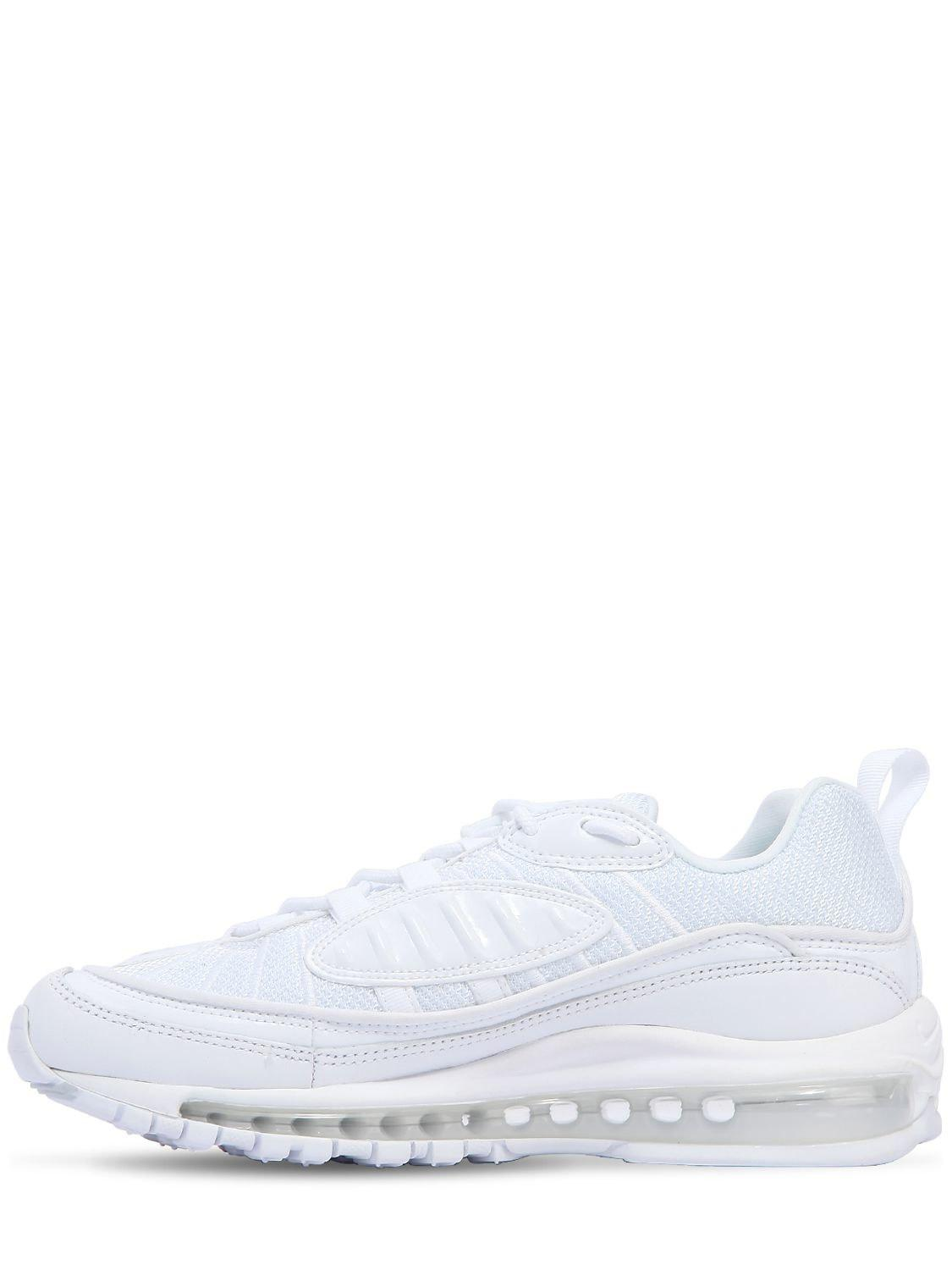 Nike Air Max 98 Leather Sneakers in White