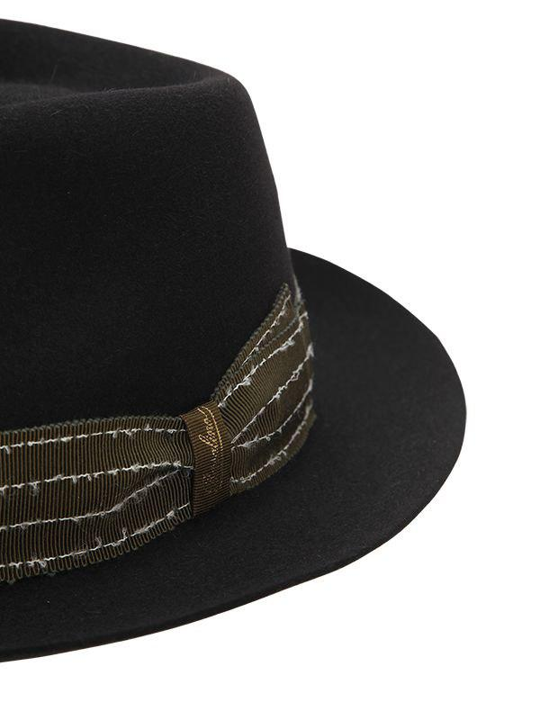 009874d9cb1 Borsalino Fur Felt Hat W  Embroidered Hat Band in Black for Men - Lyst