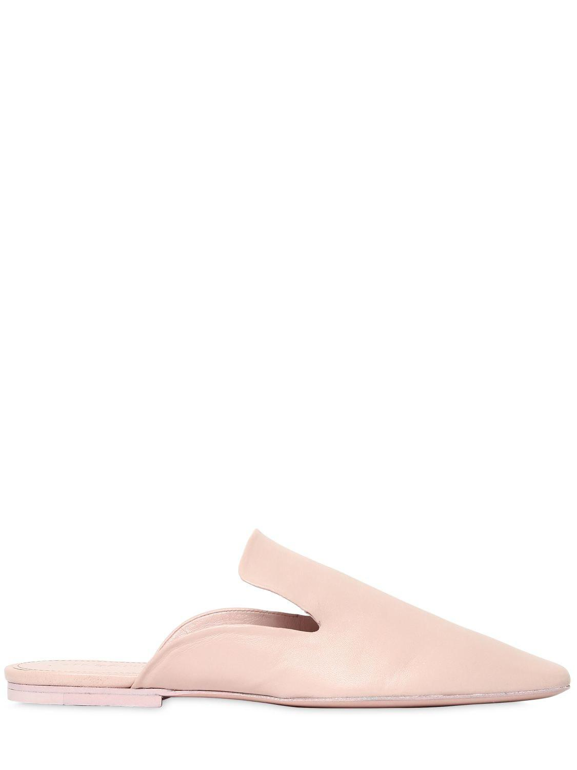 84490bbdcb3 Jil Sander 10mm Leather Mules in Pink - Lyst