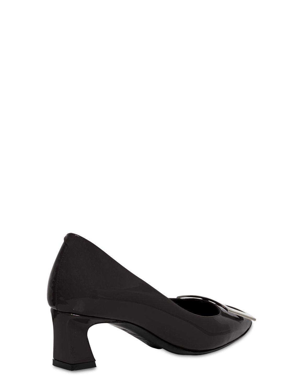"""Zapatos De Tacón """"Trompette"""" De Charol 45Mm Roger Vivier de Cuero de color Negro"""