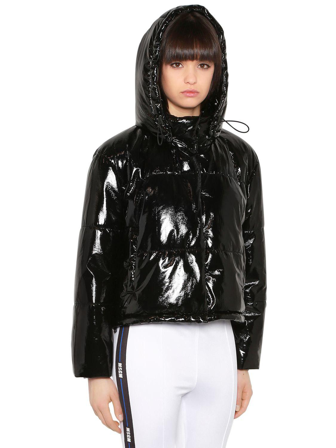f5efa7cd MSGM Quilted Vinyl Puffer Jacket in Black - Lyst