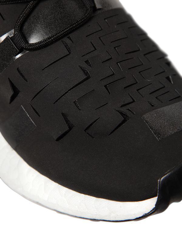 Lyst - Y-3 Ultraboost Approach Laser Cut Sneakers in Black for Men 3cb315f89