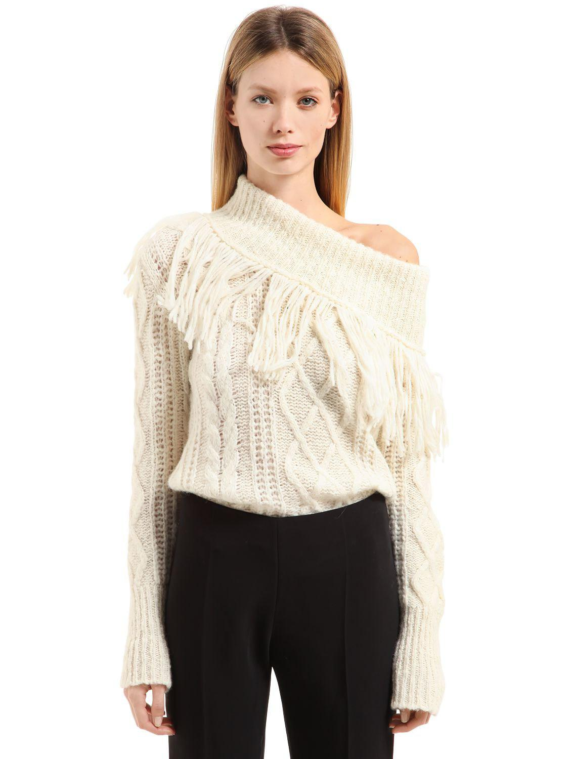 Philosophy Di Lorenzo Serafini Destroyed Alpaca Blend Knit Sweater ... 5c37185b7