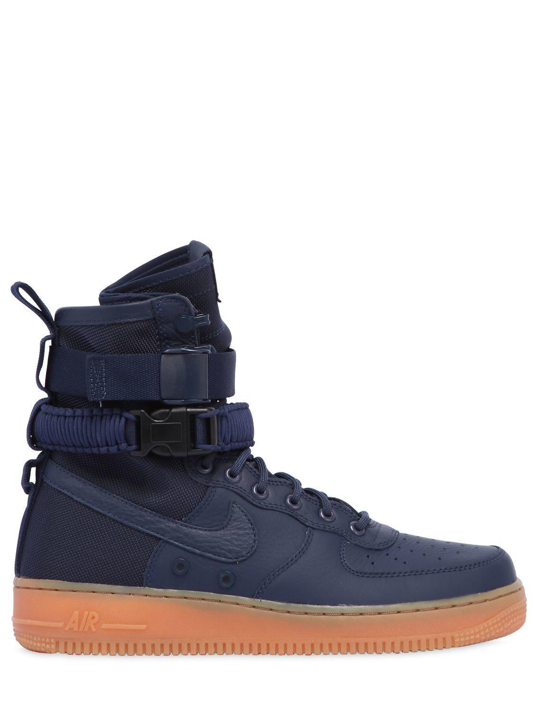 Nike Sf Air Force 1 High Top Sneakers in Blue - Lyst