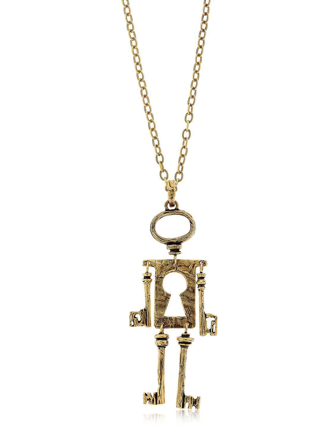 Alcozer & J Chiave Mossa Pendant Necklace in Gold (Metallic)