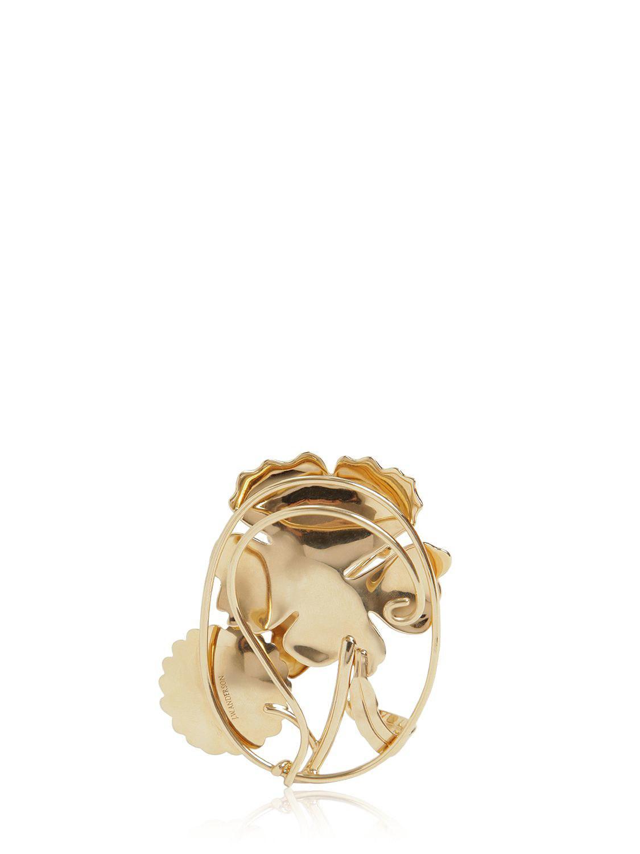 JW Anderson Daisy Mono Earpiece in Gold (Metallic)