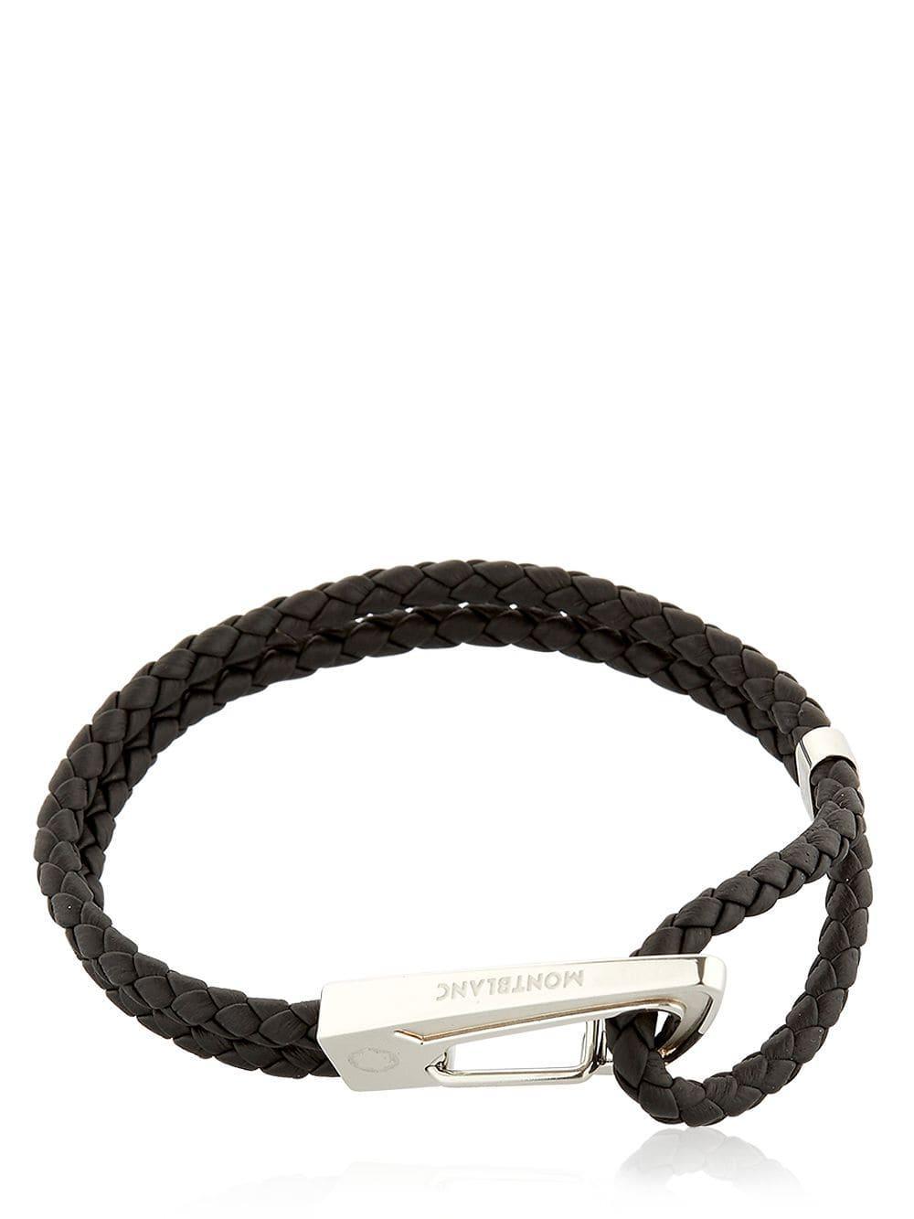 De Homme En Cuir Noir Acier Et Coloris Bracelet kPiZuX
