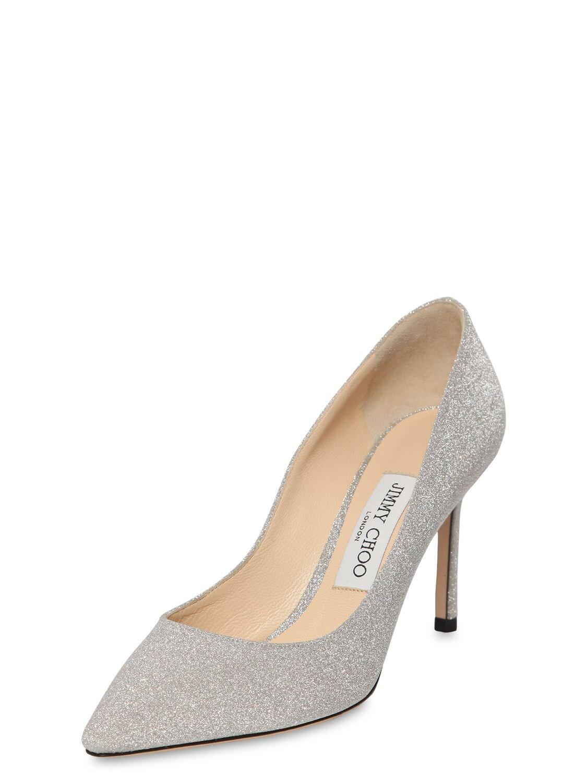 "Zapatos Pumps ""Romy"" De Glitter Fino Jimmy Choo de color Metálico"