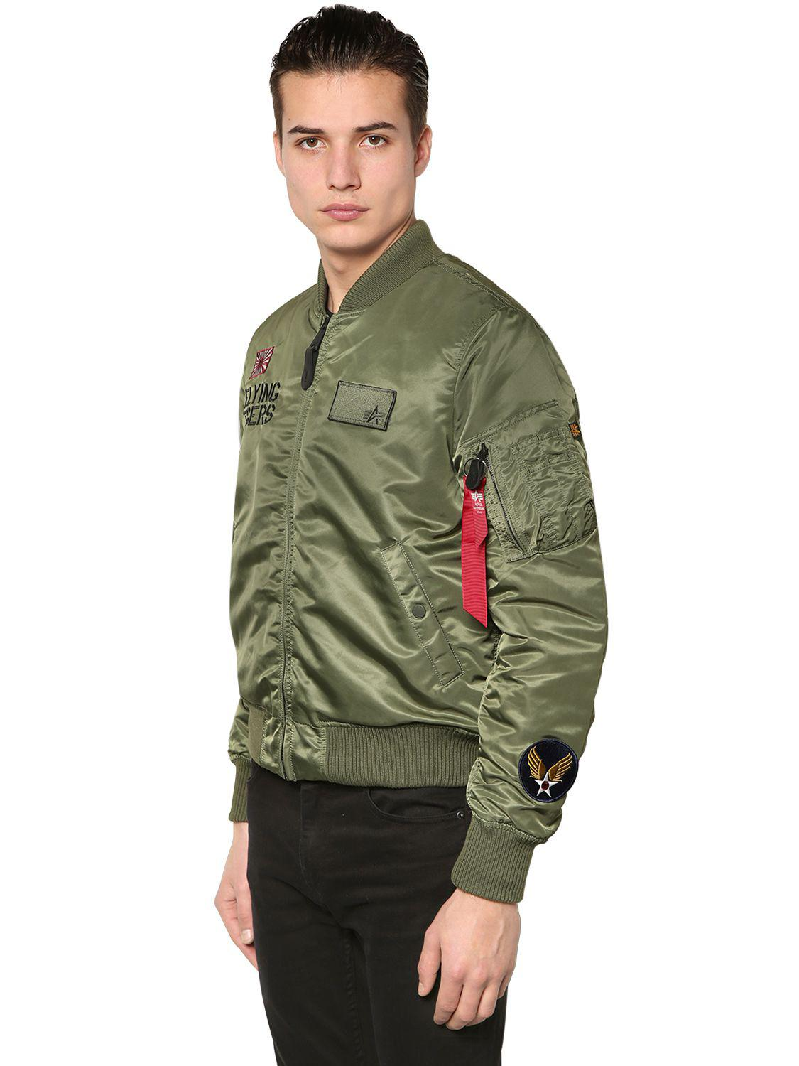 21d0b9a08 Alpha Industries Green Ma-1 Vf Flying Tigers Slim Bomber Jacket for men