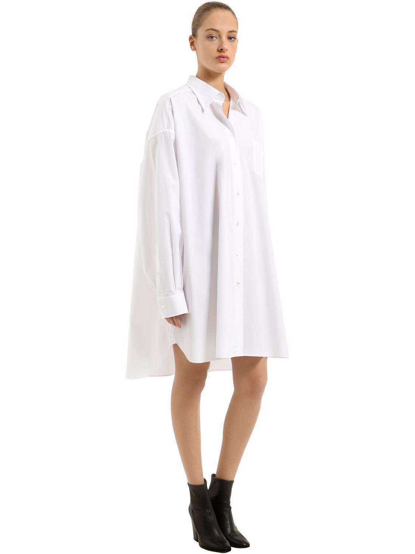 Oversized cotton jersey dress Maison Martin Margiela Iu4tdtO3TH