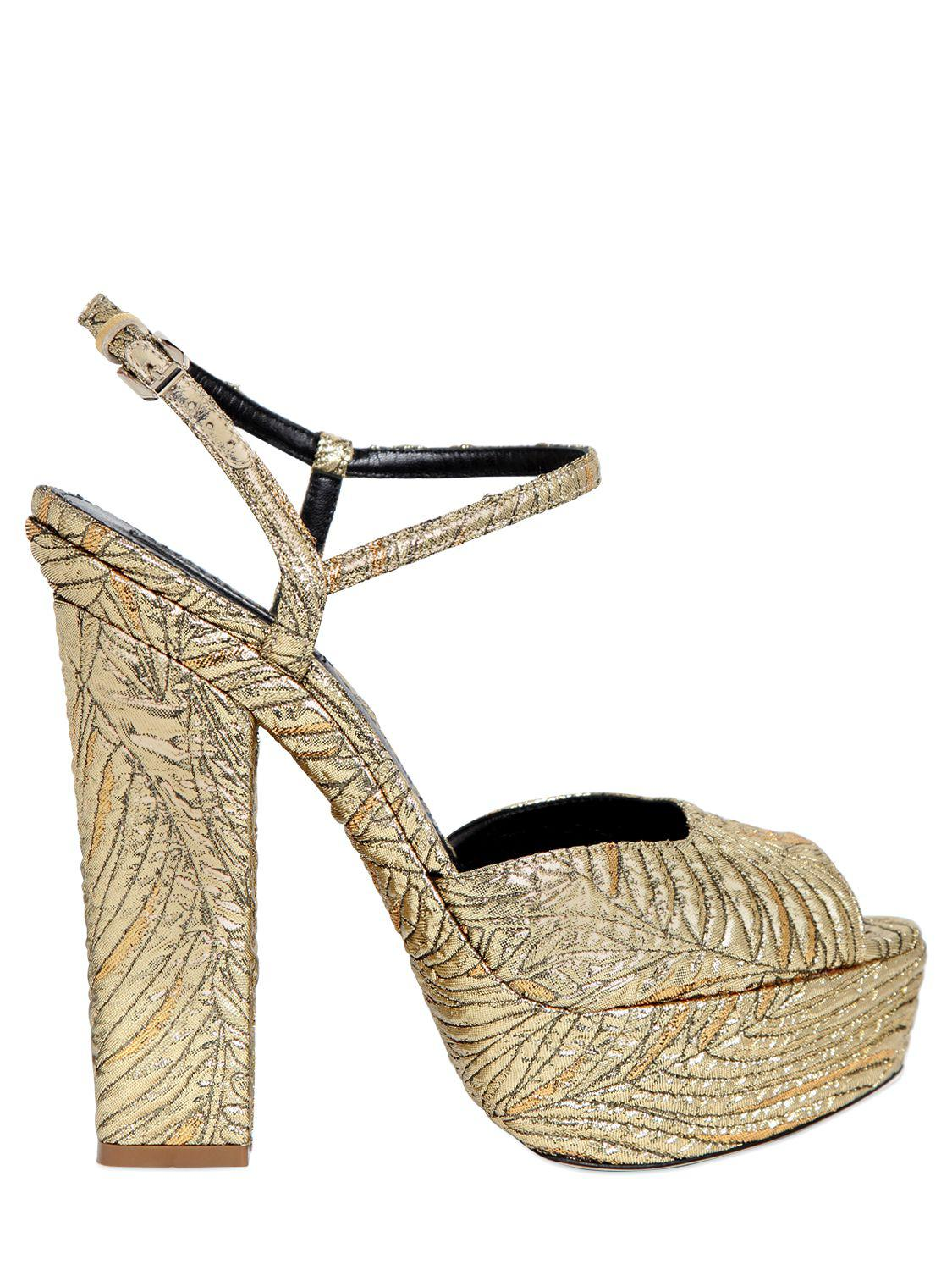 best place to buy shopping online clearance Dsquared² Metallic Platform Sandals cost sale online outlet cheap prices how much cheap price wRy8rsibzy