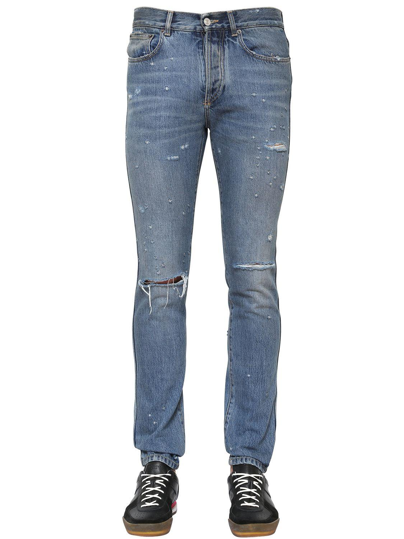 slim-fit destroyed denim jeans - Blue Givenchy 40EPX