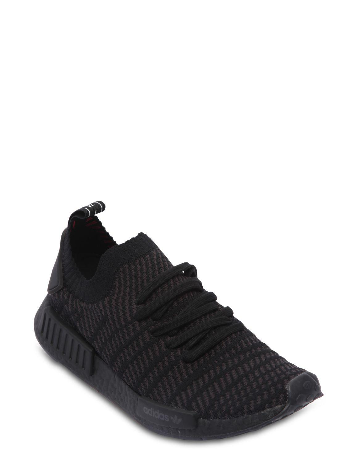 Lyst Adidas Originals Nmd R1 Stlt Primeknit Sneakers In Black For Men