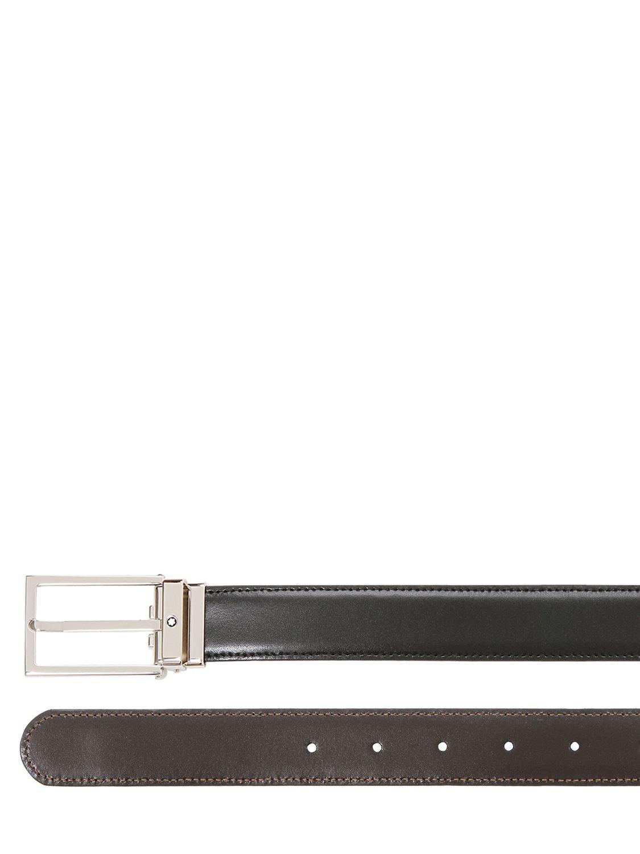 Lyst - Ceinture réversible en cuir 30mm Montblanc pour homme en ... f3c7e7f595a