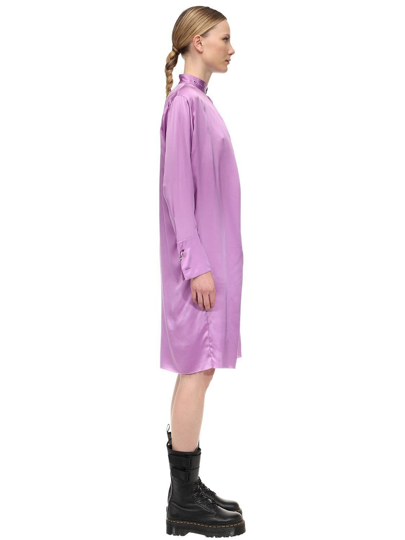 Robe Midi En Satin Avec Boucle Sur Le Col Marques'Almeida en coloris Violet
