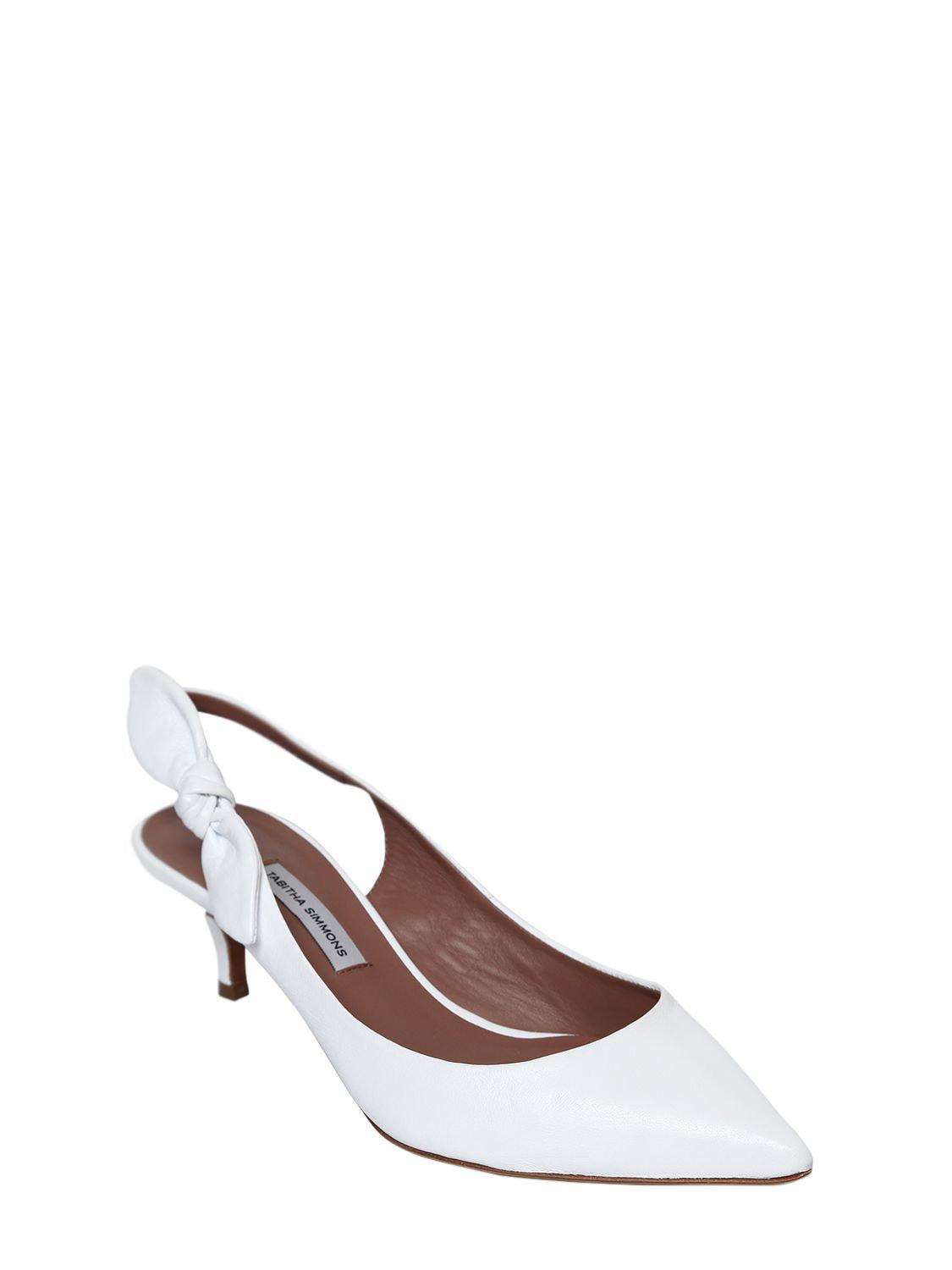291496219e4 Lyst - Tabitha Simmons Rise Leather Slingback Pumps in White - Save  24.186046511627907%
