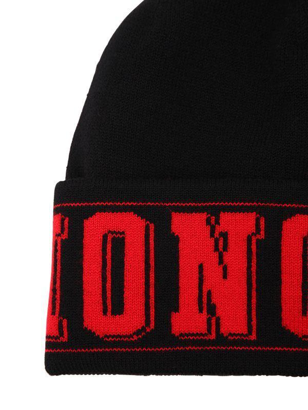 bb102412e39b9 Moncler Logo Knit Beanie Hat in Black for Men - Save 30% - Lyst