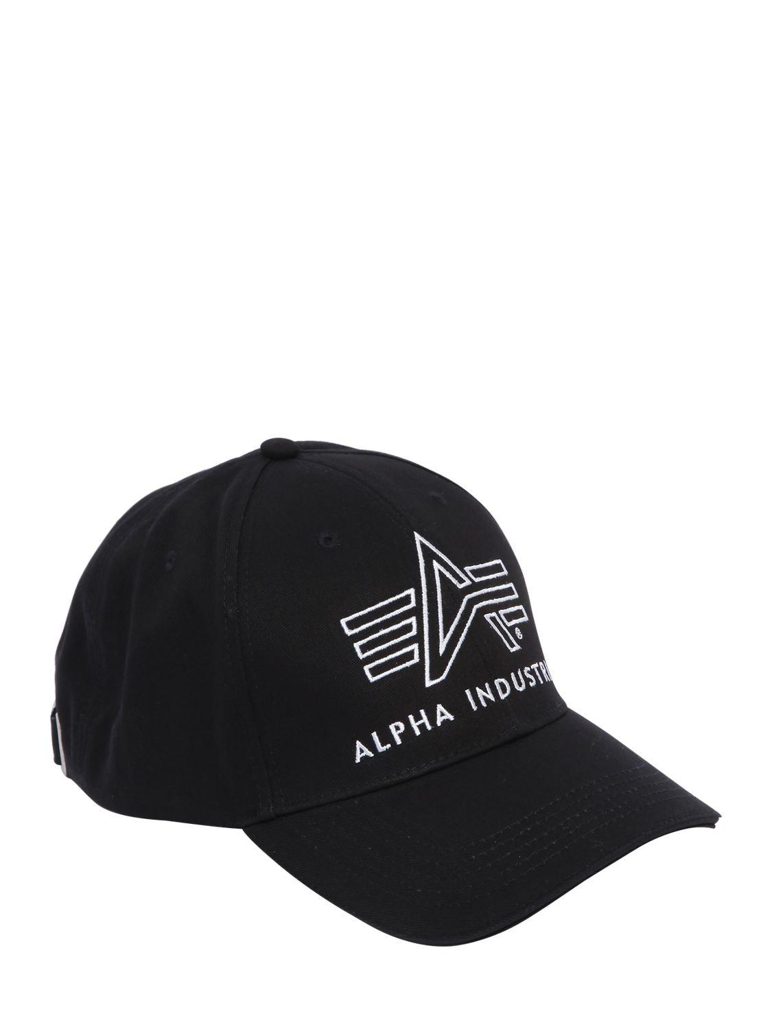 255057b67 Alpha Industries Black Big A Classic Trucker Hat for men