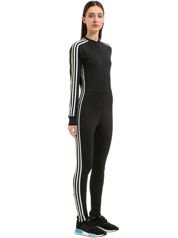 Stripes Stage Jumpsuit Originals Adidas Tricot Black 3 YWED9eH2I