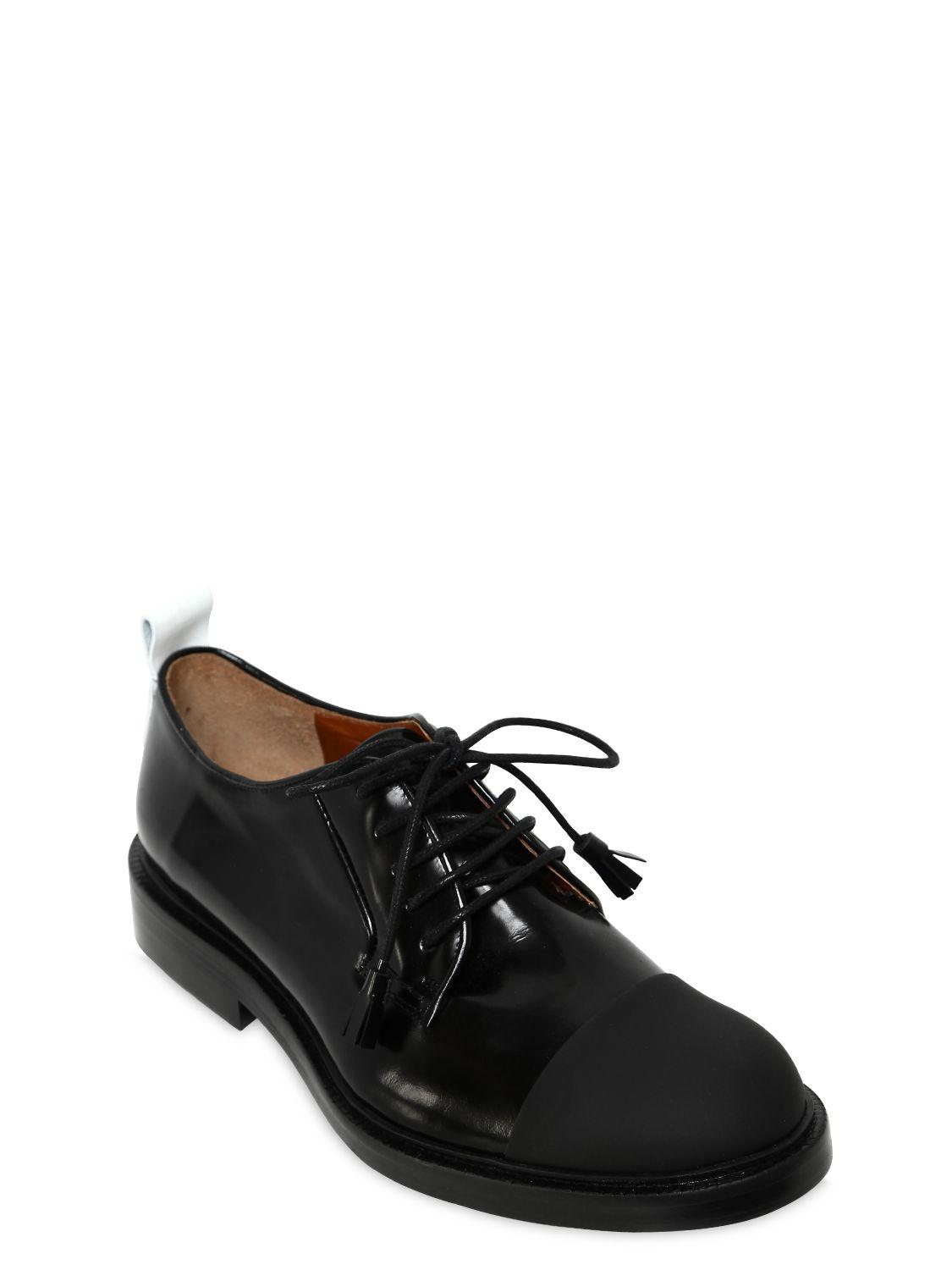 Joseph 20MM BRUSHED LEATHER LACE-UP SHOES ATP4LGLaQK