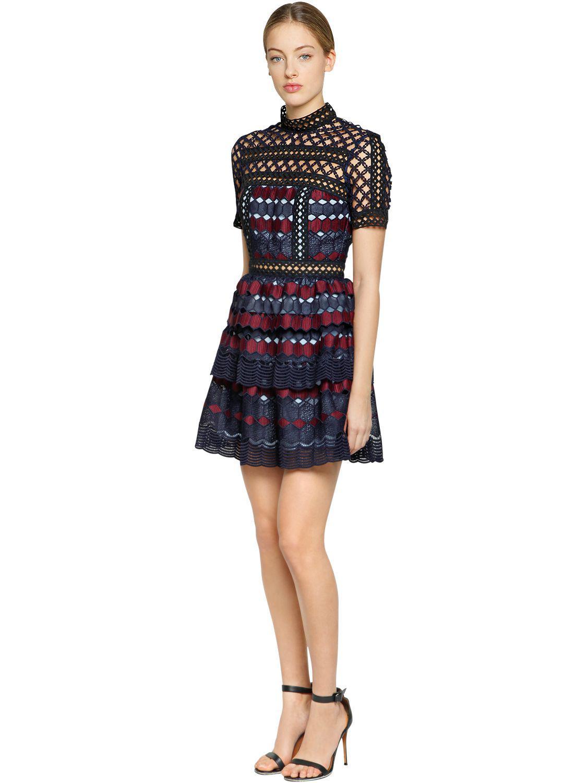 Hexagon Lace Mini Dress