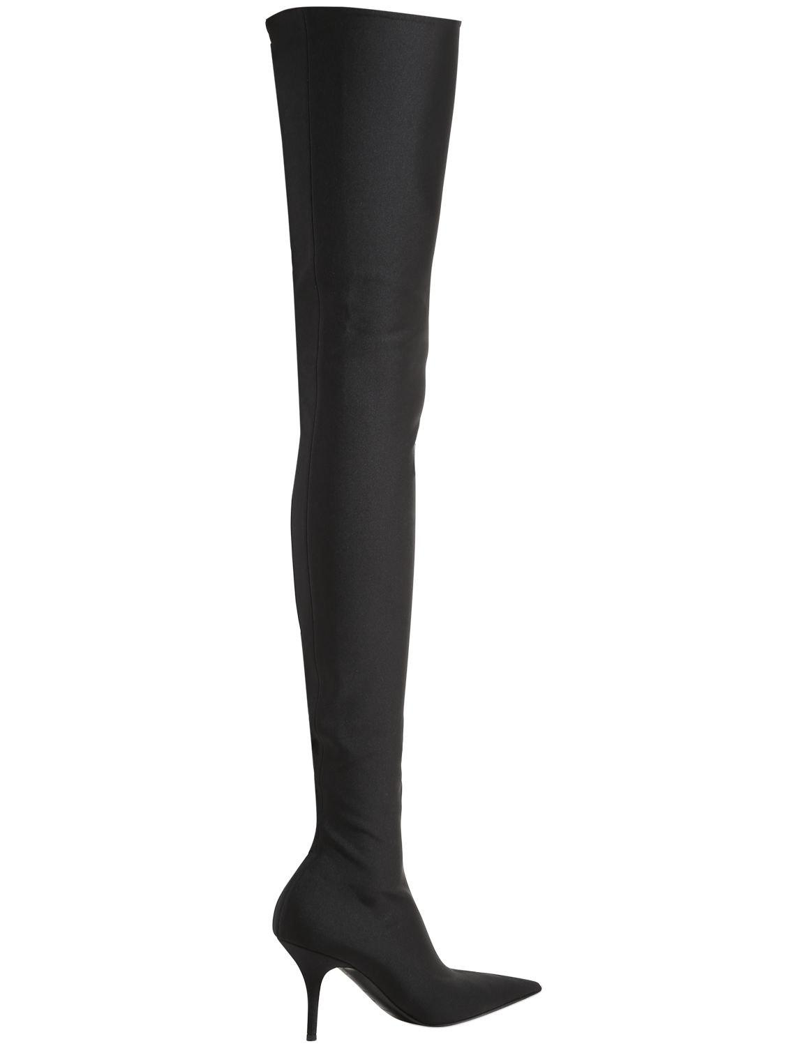 Balenciaga80MM KNIFE SPANDEX OVER THE KNEE BOOTS gGVgQL7w2T