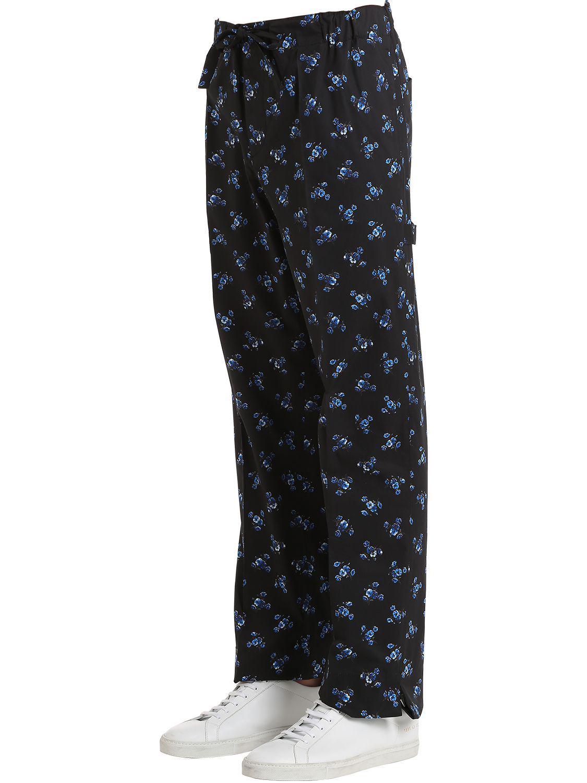KENZO May Flower Poplin Pajama Pants in Black for Men