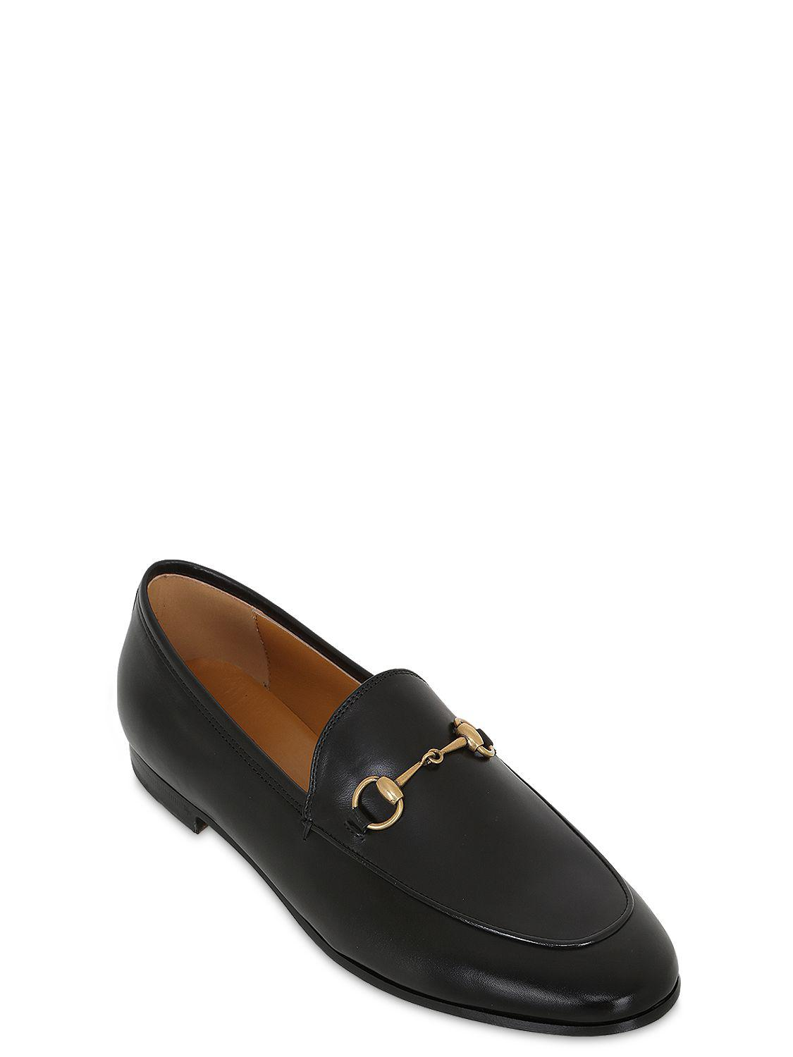 99ea6e13f71 Lyst - Gucci 10mm Jordaan Leather Loafer in Black