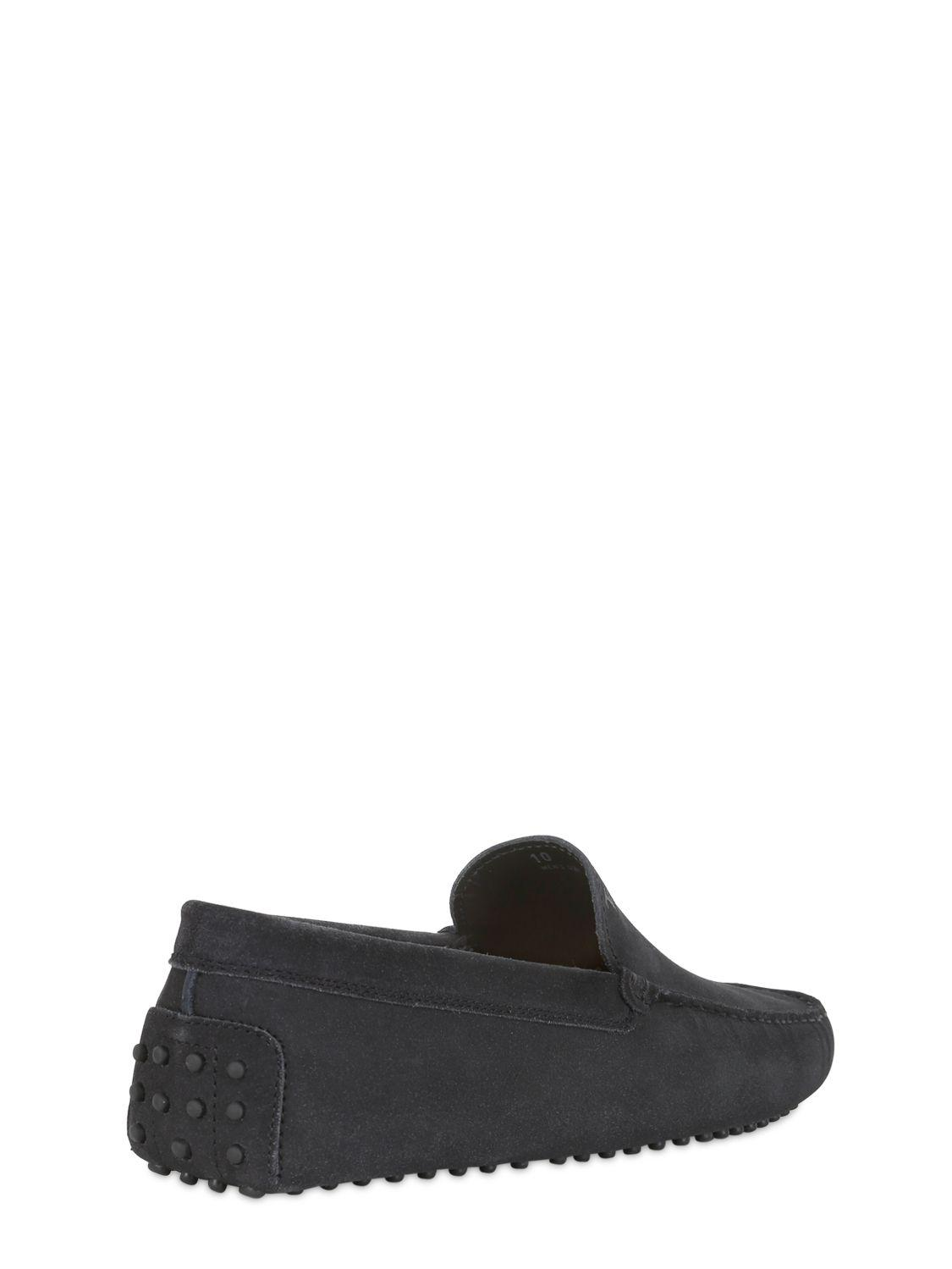 Tod's Gommino Suede Driving Shoes in Navy (Blue) for Men