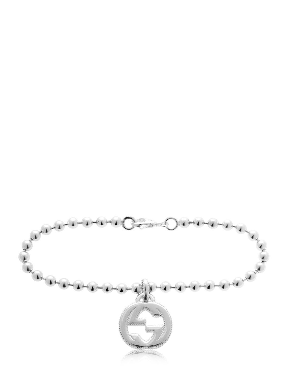 3c49d6723 Gucci Interlocking G Bracelet in Metallic for Men - Lyst