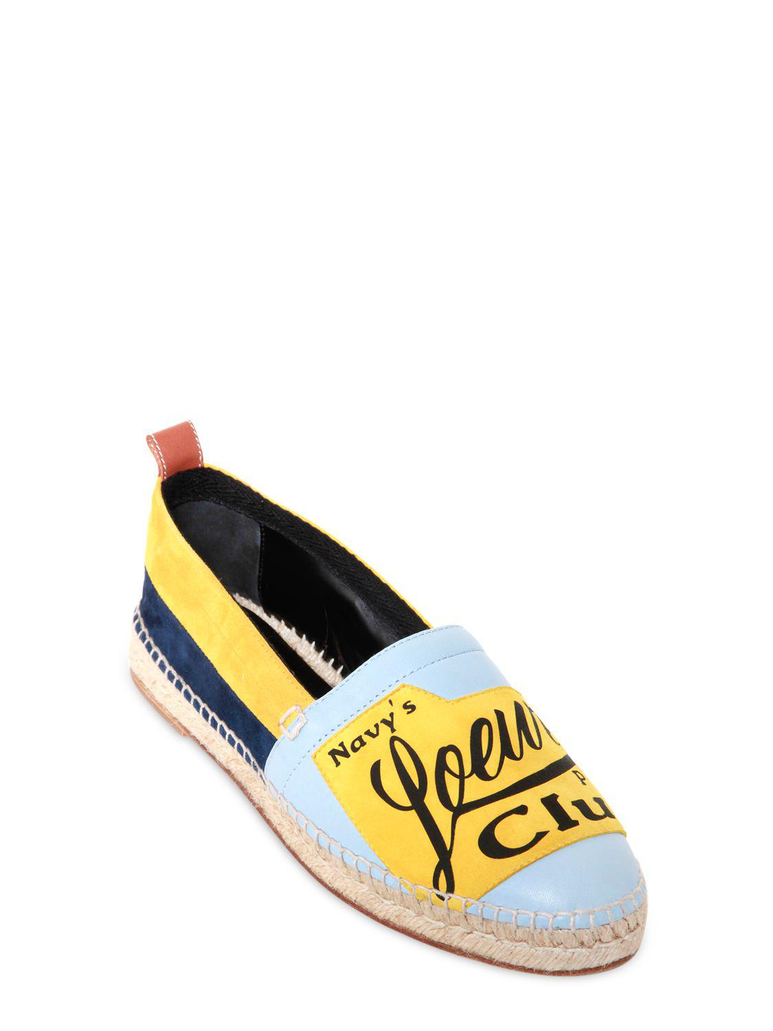 LoeweLOGO PATCH SUEDE & LEATHER ESPADRILLES H5mKUYILUF