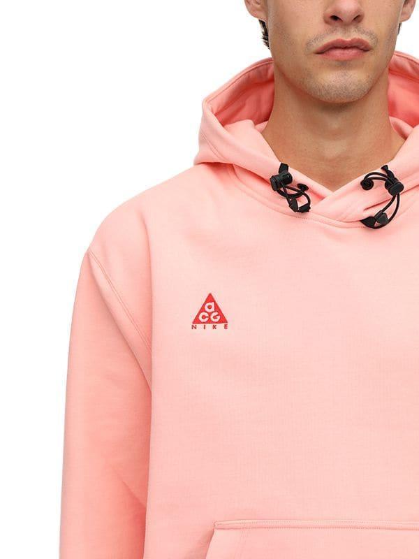 best service 91a8e 8aa17 Lyst - Nike Acg Nrg Cotton Sweatshirt Hoodie in Pink for Men