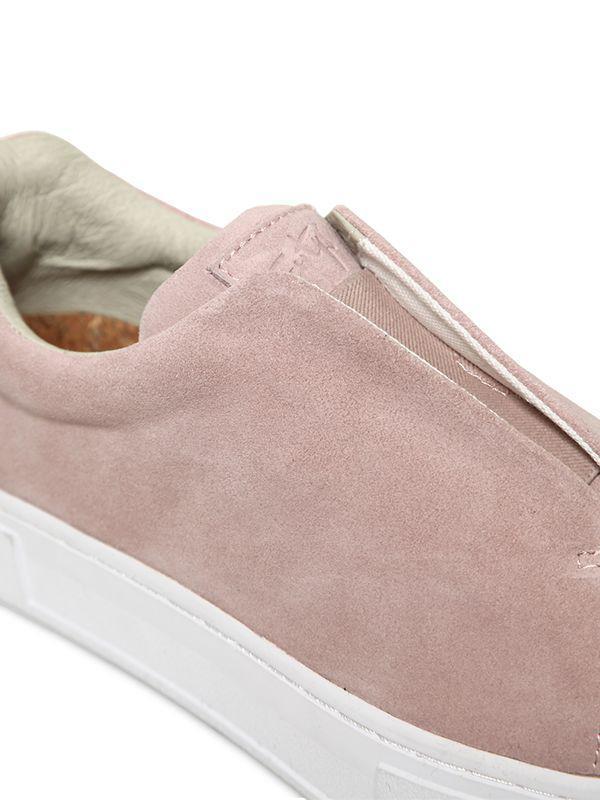 Eytys 30mm Doja S-o Suede Slip-on Sneakers in Blush (Pink)
