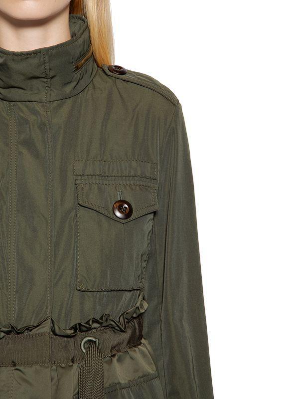 5e5b5136f Moncler Green Rhodonite Gabardine & Nylon Field Jacket