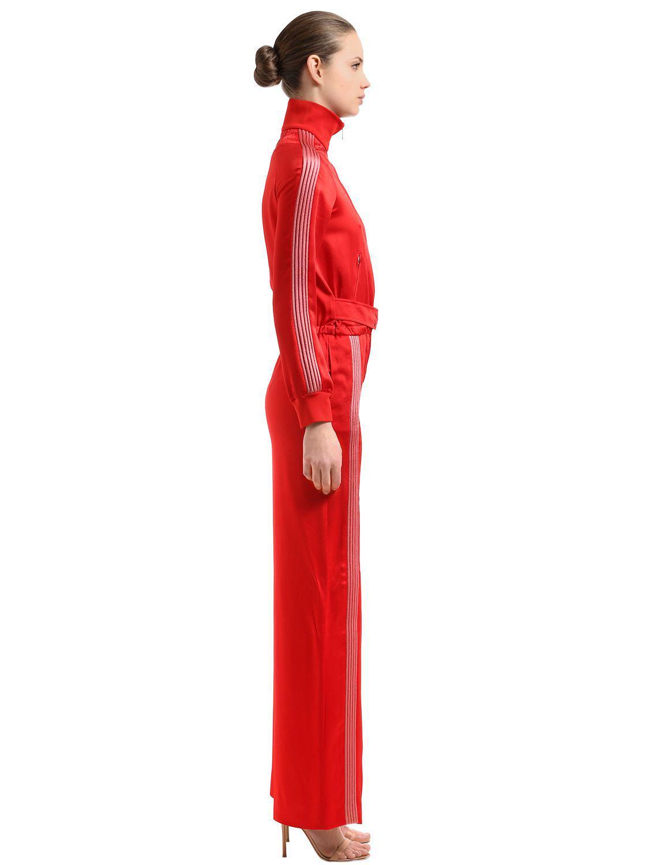 6f3c75b781b3 Valentino - Textured Satin Jumpsuit - Lyst. View fullscreen