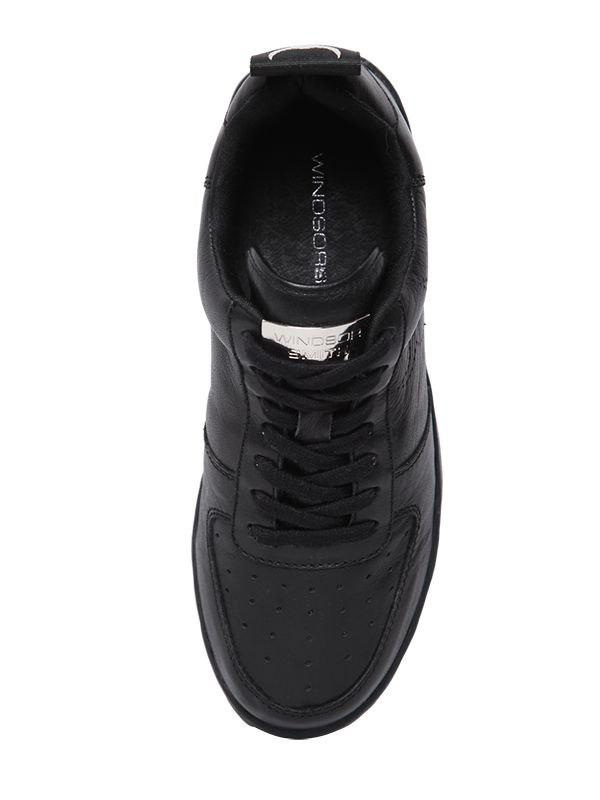 Windsor Smith 50mm Racer Leather Sneakers in Black