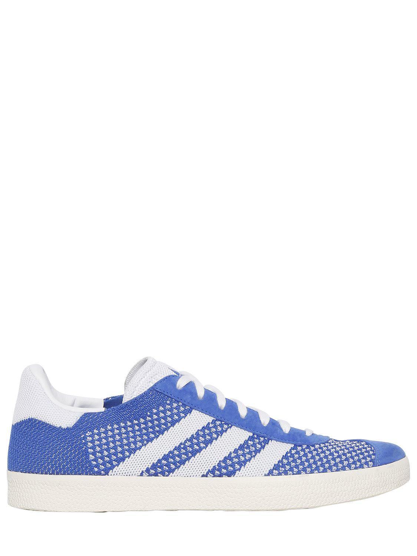 best website 68e28 a682f adidas Originals. Mens Blue Gazelle Primeknit Sneakers